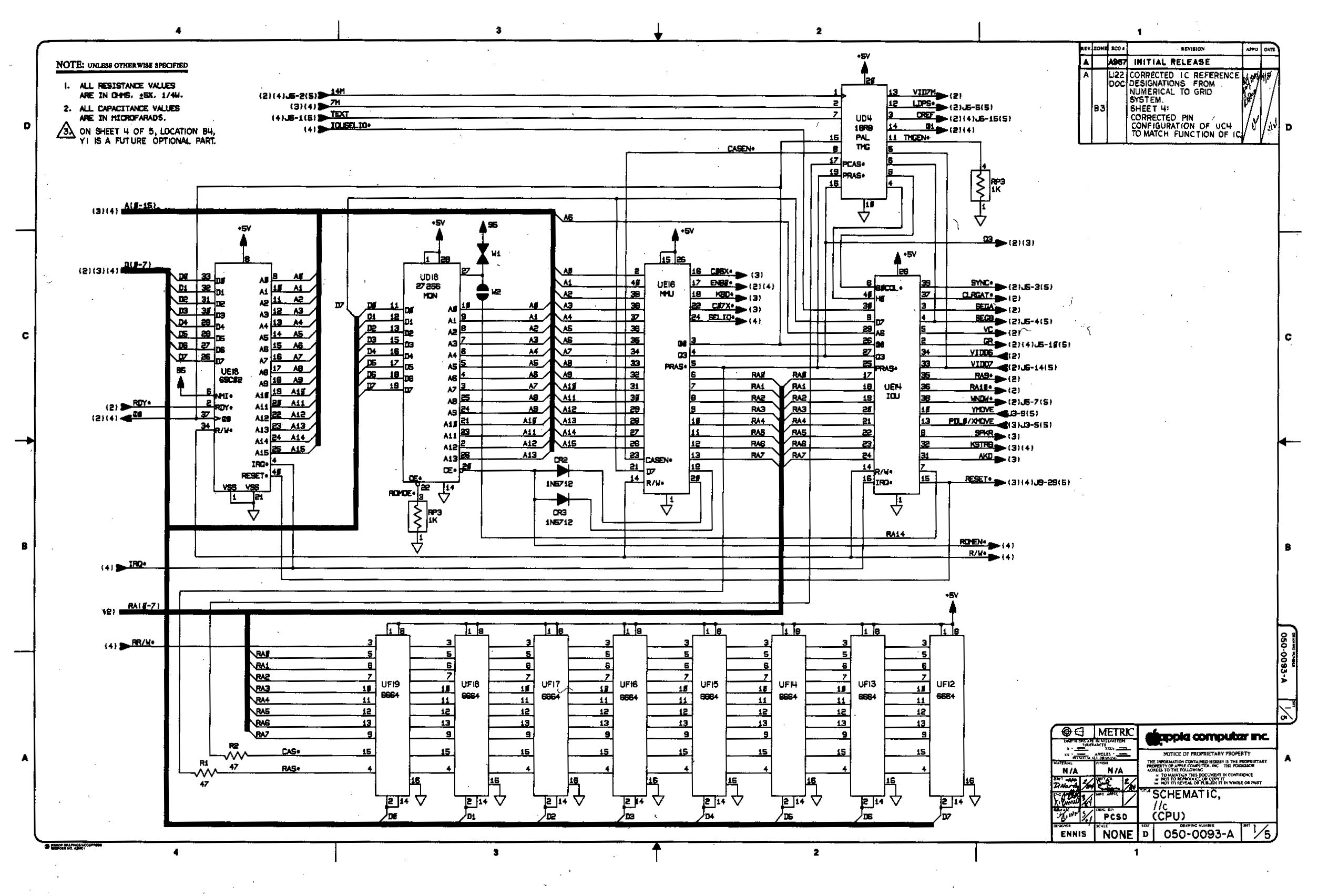 Apple IIc Schematic Page 1 schematic 2700 download readingrat net A1181 MacBook Black at panicattacktreatment.co